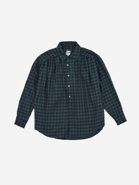Painter Shirt - Green Cotton Tartan Check