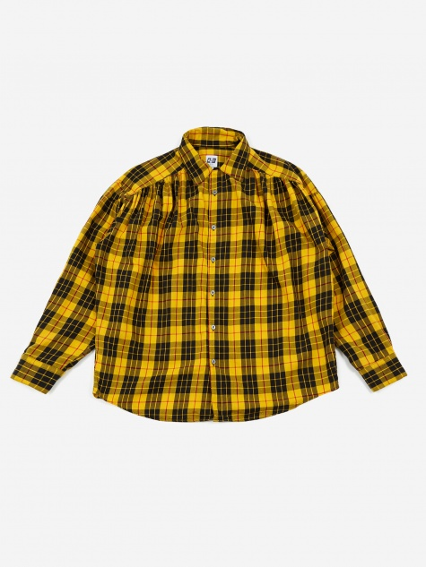 Painter Shirt - Yellow Cotton Tartan Check