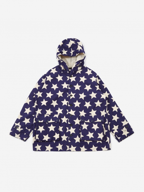 Krazy Parka - Natural/Navy Star Print