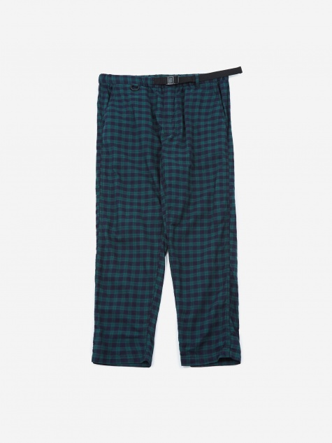 EZ Trouser - Green Cotton Tartan Check