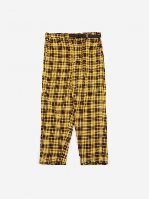 AiE EZ Trouser - Yellow Cotton Tartan Check