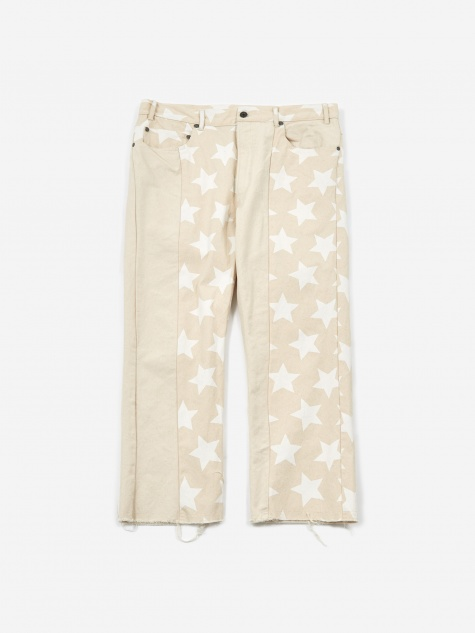 Krazy Trouser - Natural/White Star Print