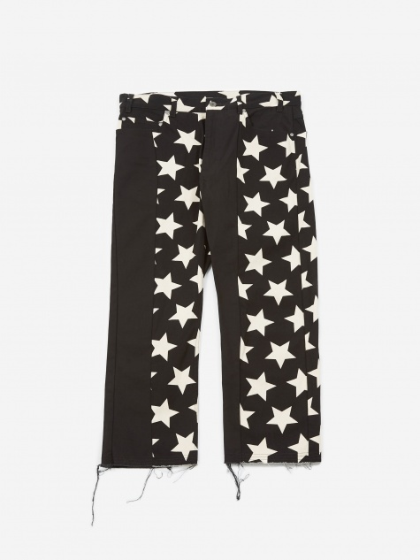 Krazy Trouser - Natural/Black Star Print