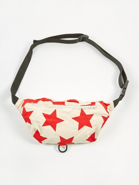 Waist Pouch - Natural/Red Star Print