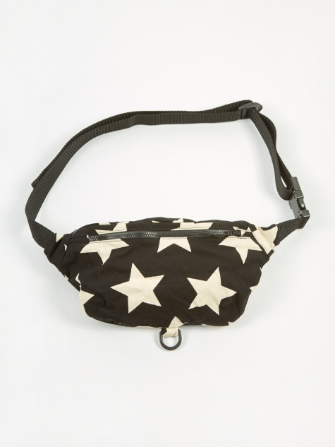 Waist Pouch - Natural/Black Star Print