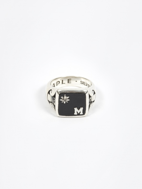 Collegiate Ring - Silver/Onyx