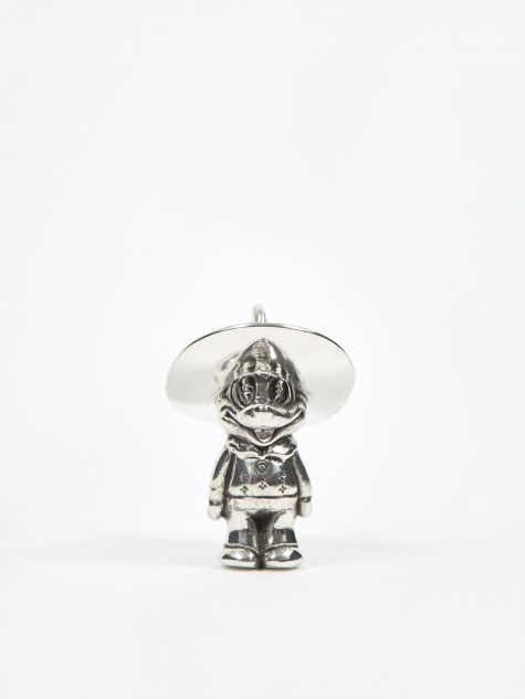 Maple Cowboy Pendant - Silver