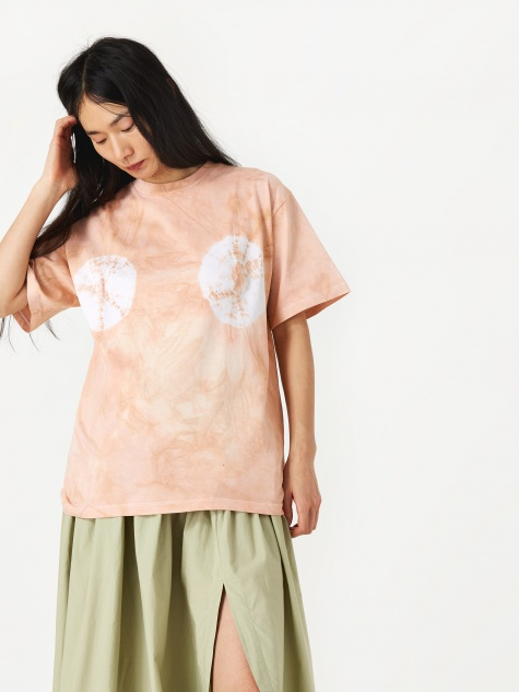 Tie-Dye Headlights T-Shirt - Beige