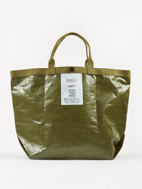 Dart! Short Handle Tote Bag 48cm - Olive