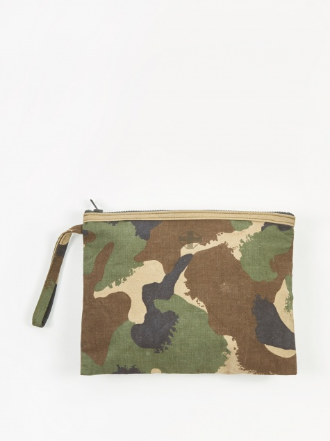 Square Edge Fabric Storage Pouch 30x24cm - Army Camo B