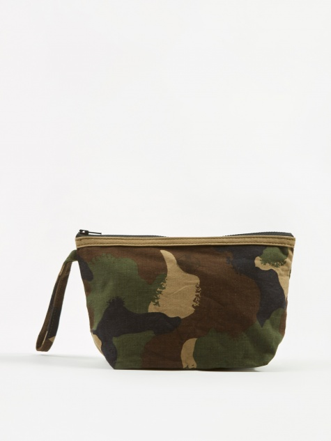 Round Edge Fabric Storage Pouch 25x15cm - Army Camo B