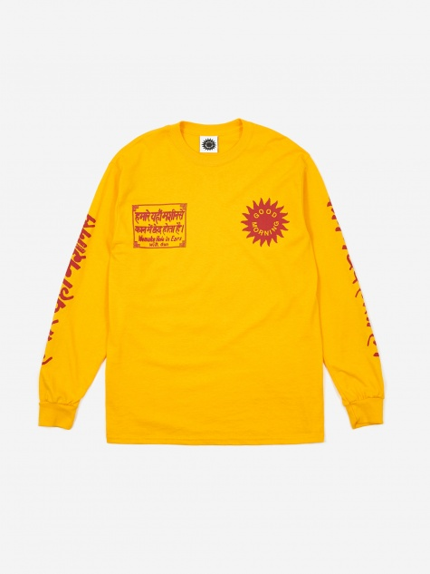 Silence Please Longsleeve - Gold