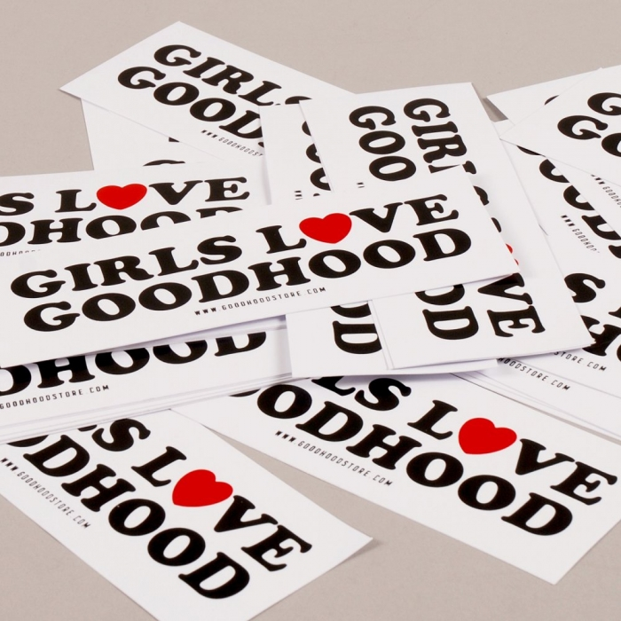 Goods By Goodhood Goodhood 5th Anniversary Girls Sticker (Image 1)