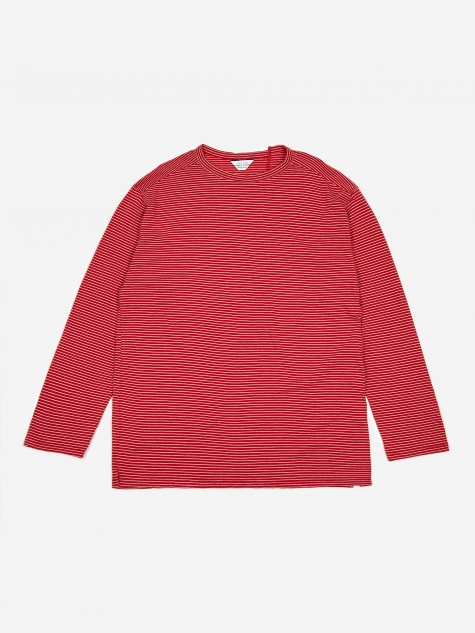 Striped Longsleeve T-Shirt - Red/White