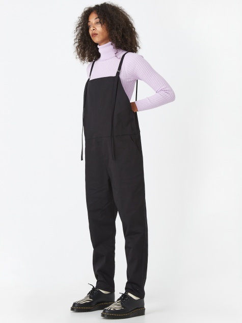 Long Strap Overall - Black