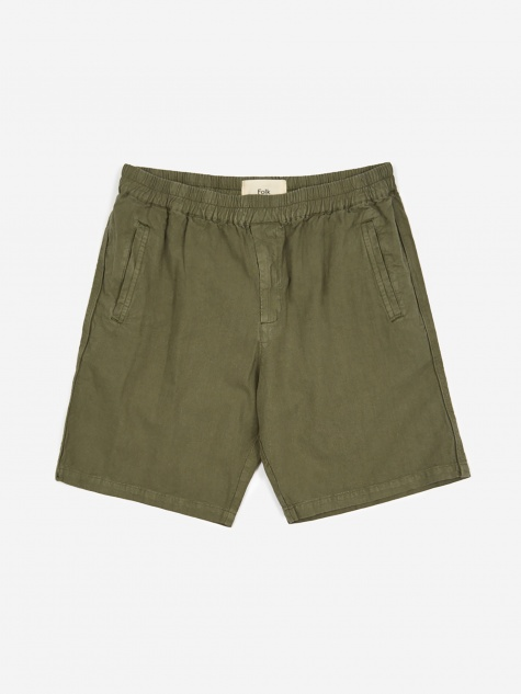 Cotton Linen Shorts - Green