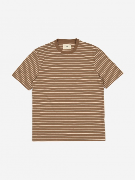 Pencil Stripe Tee - Oatmeal Ecru