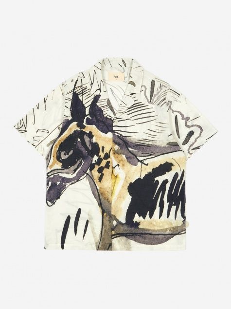 Short Sleeve Soft Collar Shirt - Orpheus Print