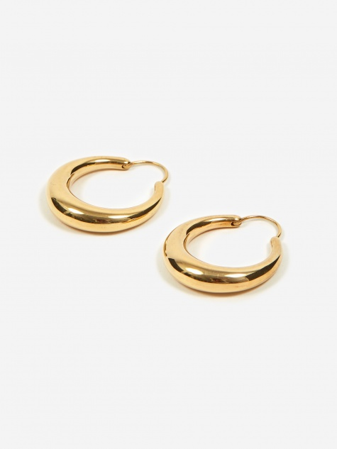 Fat Snake Earrings - Polished Vermeil Gold