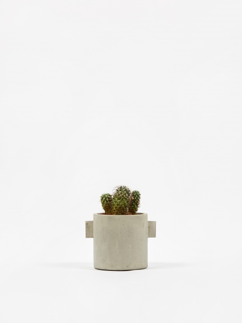 Round Concrete Pot Natural - 13cm