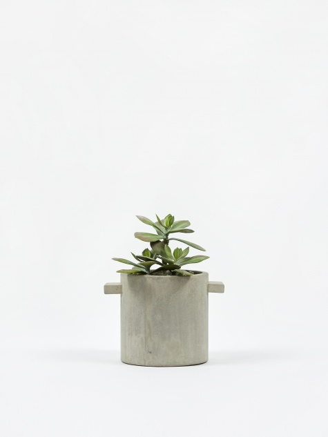 Round Concrete Pot Natural - 15cm