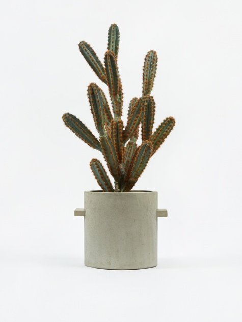 Round Concrete Pot Natural - 20cm