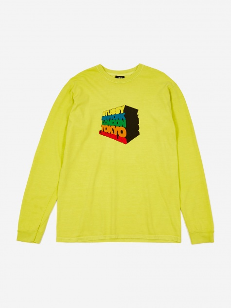 Stacked Up Longsleeve T-Shirt - Lime