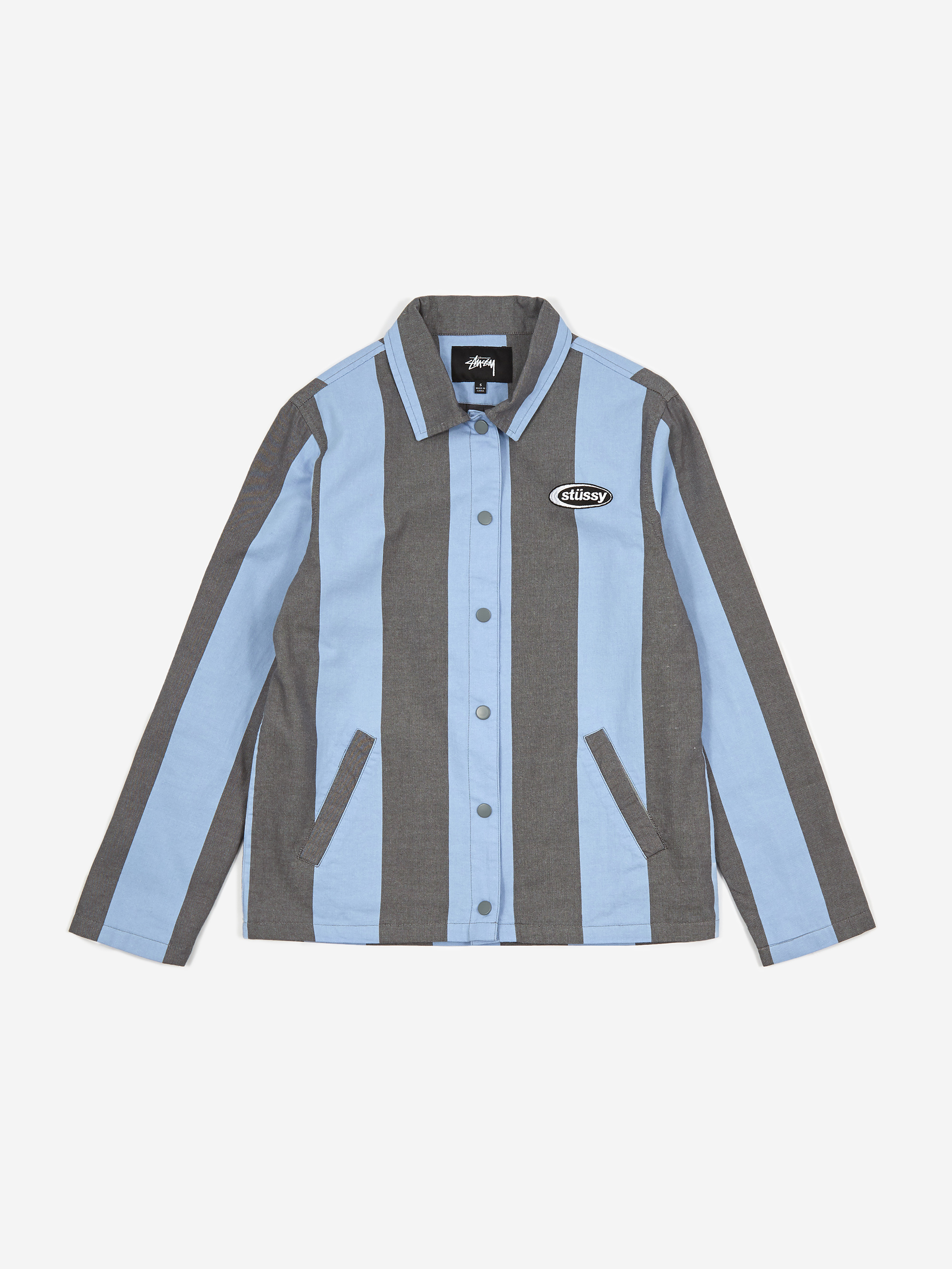 Stussy Etta Striped Coach Jacket - Blue