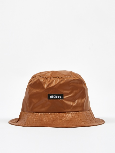 Langley Shiny Bucket Hat - Tan