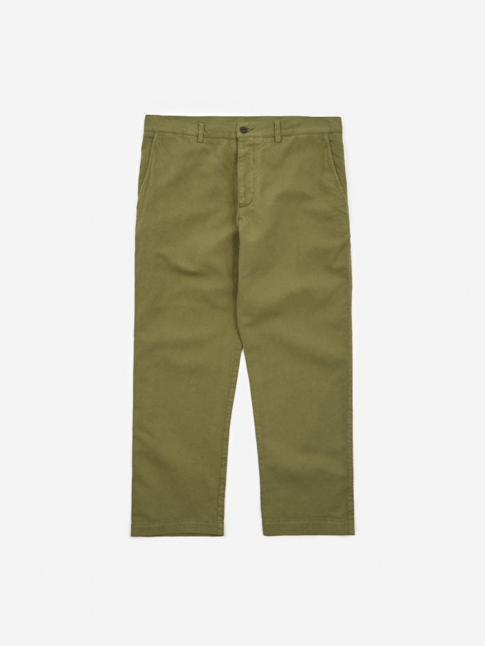 YMC Hand Me Down Trouser - Olive (Image 1)