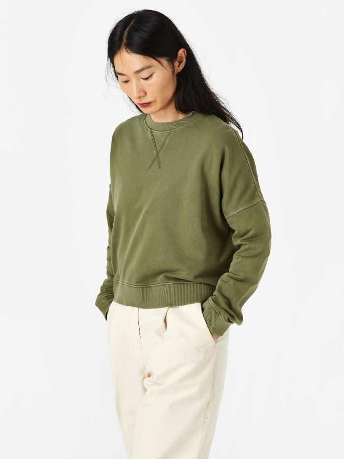 YMC Almost Grown Sweatshirt - Olive (Image 1)