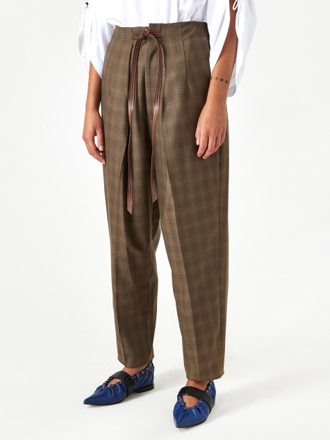 TOGA ARCHIVE Suiting Wool Pant - Brown Check