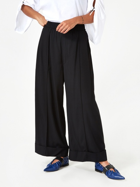 TOGA ARCHIVE Gabardine Wide Pant - Black