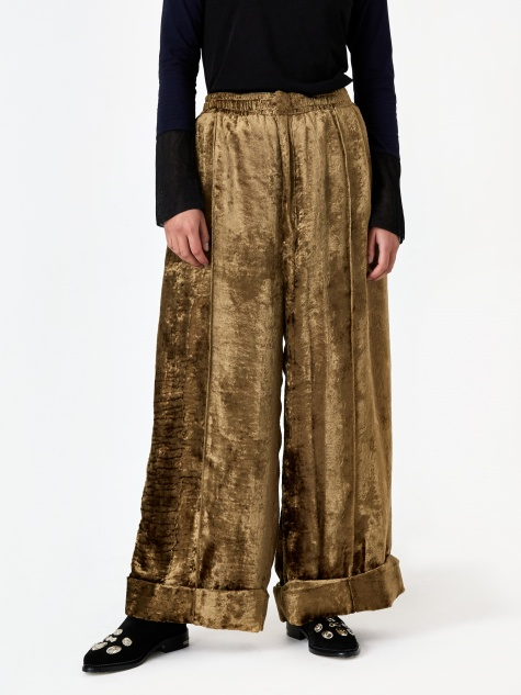ARCHIVE Shaggy Velvet Pants - Beige