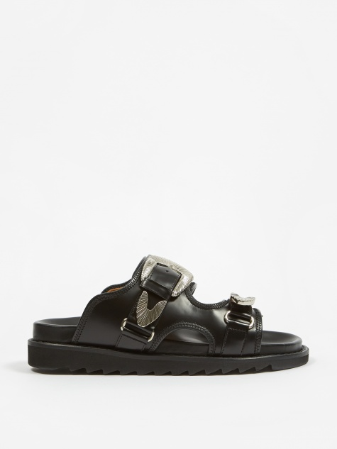 PULLA  - Buckle Sandal - Black