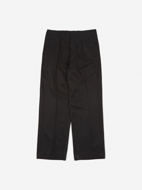 Borrowed Chino - Shiny Black Twill