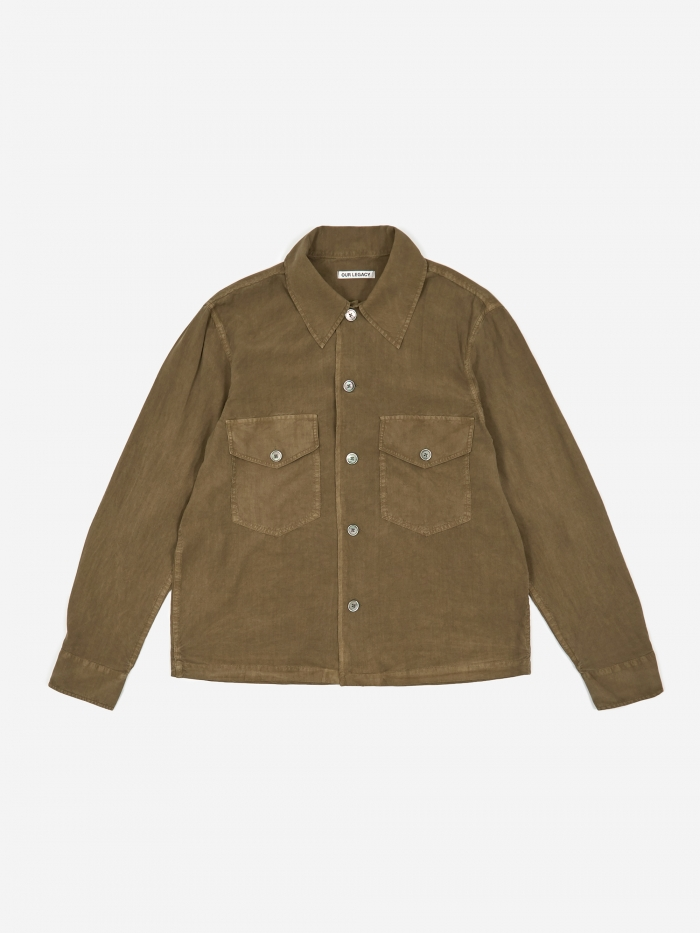 Our Legacy Loan Jacket - Dark Olive (Image 1)
