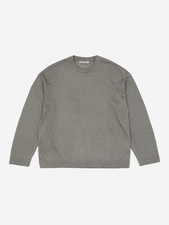 Our Legacy Sonar Roundneck Jumper- Grey (Image 1)