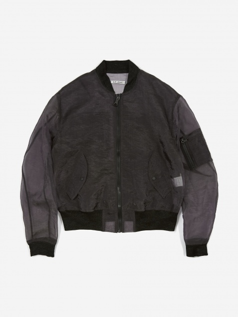 Wind Whisper Bomber - Grey Organza