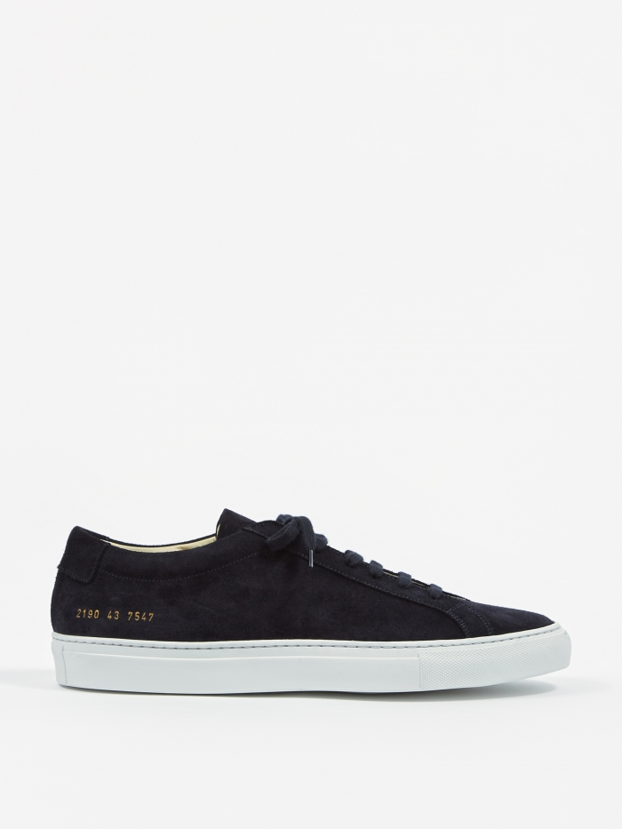 Common Projects Achilles Low Suede - Midnight Black (Image 1)