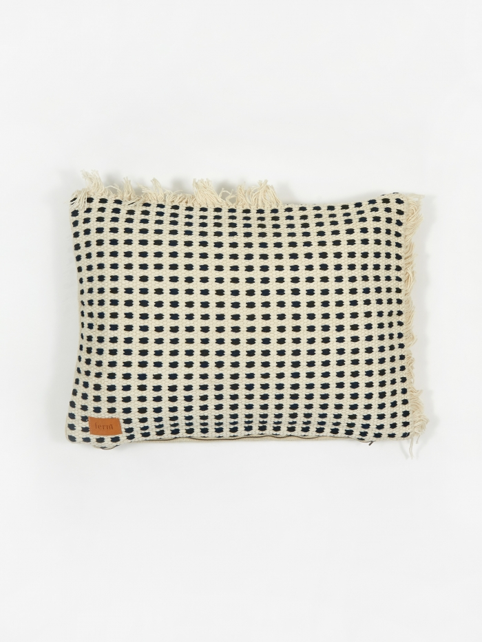 Ferm Living Way Cushion 70x50cm - Off-White/Blue (Image 1)