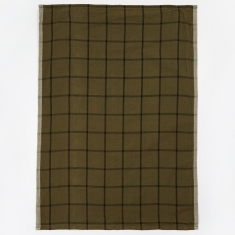 Ferm Living Hale Yarn Dyed Linen Tea Towels - Green