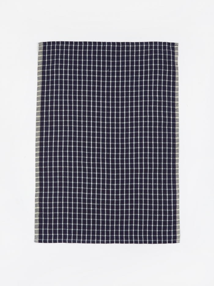 Ferm Living Hale Yarn Dyed Linen Tea Towels - Blue (Image 1)