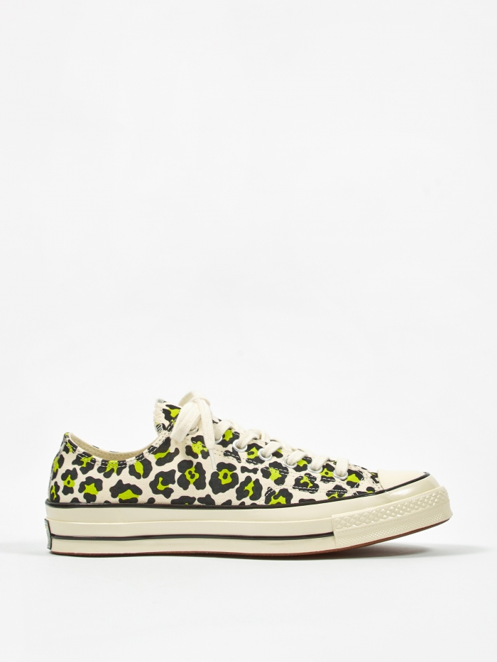 Converse Chuck Taylor All Star 70 Ox - Egret/Black/Bold Lime (Image 1)