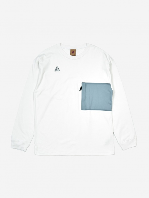ACG Longsleeve T-Shirt- Summit White/Aviator Grey