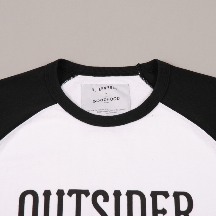 The Goodhood Store 5 Years Goodhood 5th Anniversary x R.Newbold 3/4 Tee - Outsider (Image 1)