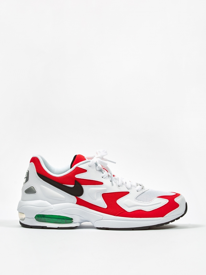 Nike Air Max 2 Light - White/Black/Habenero Red/Grey (Image 1)