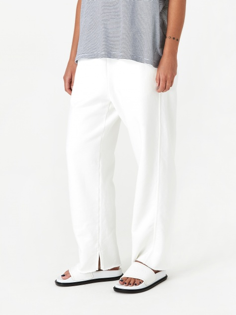 Cropped Track Pants - Off White