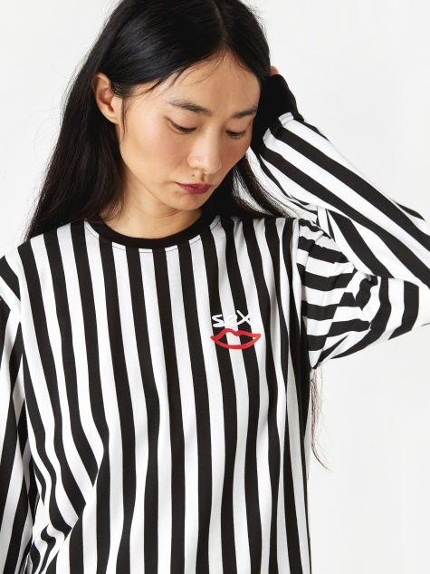Summat Nice Striped Longsleeve T-Shirt - Anthrac