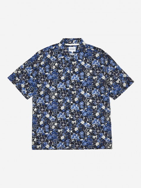 Carsten Liberty Print Shirt - Dark Navy